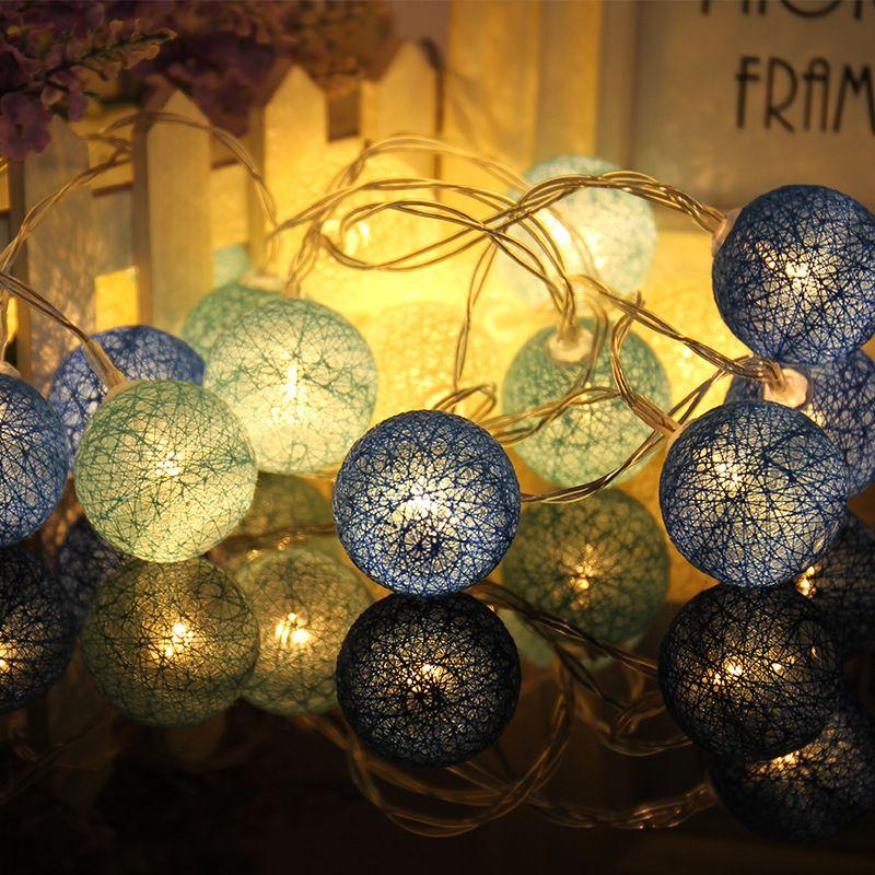 10 Globen Baumwolle Weihnachtskugel Licht Trockenbatterie 1,2 Mt Lichterketten für Veranstaltungs Home und Bäume holliday Dekorationen P15