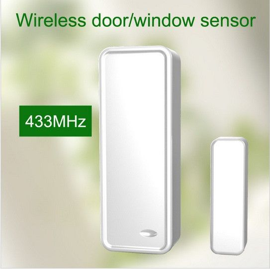 700pcs/lot 433MHZ Wireless Door magnet contact sensor windows open sensor for wireless alarm system with Anti tamper