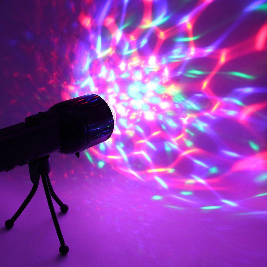 3 W rvb Led DJ scène lumière Auto rotatif projecteur Disco Club boule lampe fête spectacle DMX effet d'éclairage alimenté par batterie