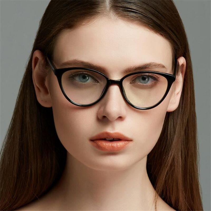 2019 frauen Cat Eye Optische Gläser Brillen Gafas Opticas Gläser Für Weibliche Oculos De Grau Brillen Klare Linse Gefälschte Brillen