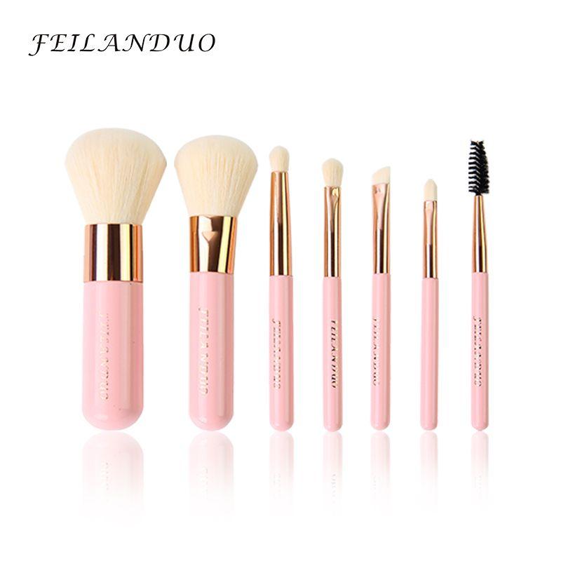 FEILANDUO ensemble de pinceaux de maquillage professionnel 7 pièces Kit d'outils de maquillage de haute qualité pinceaux de maquillage Violet outil de cosmétiques