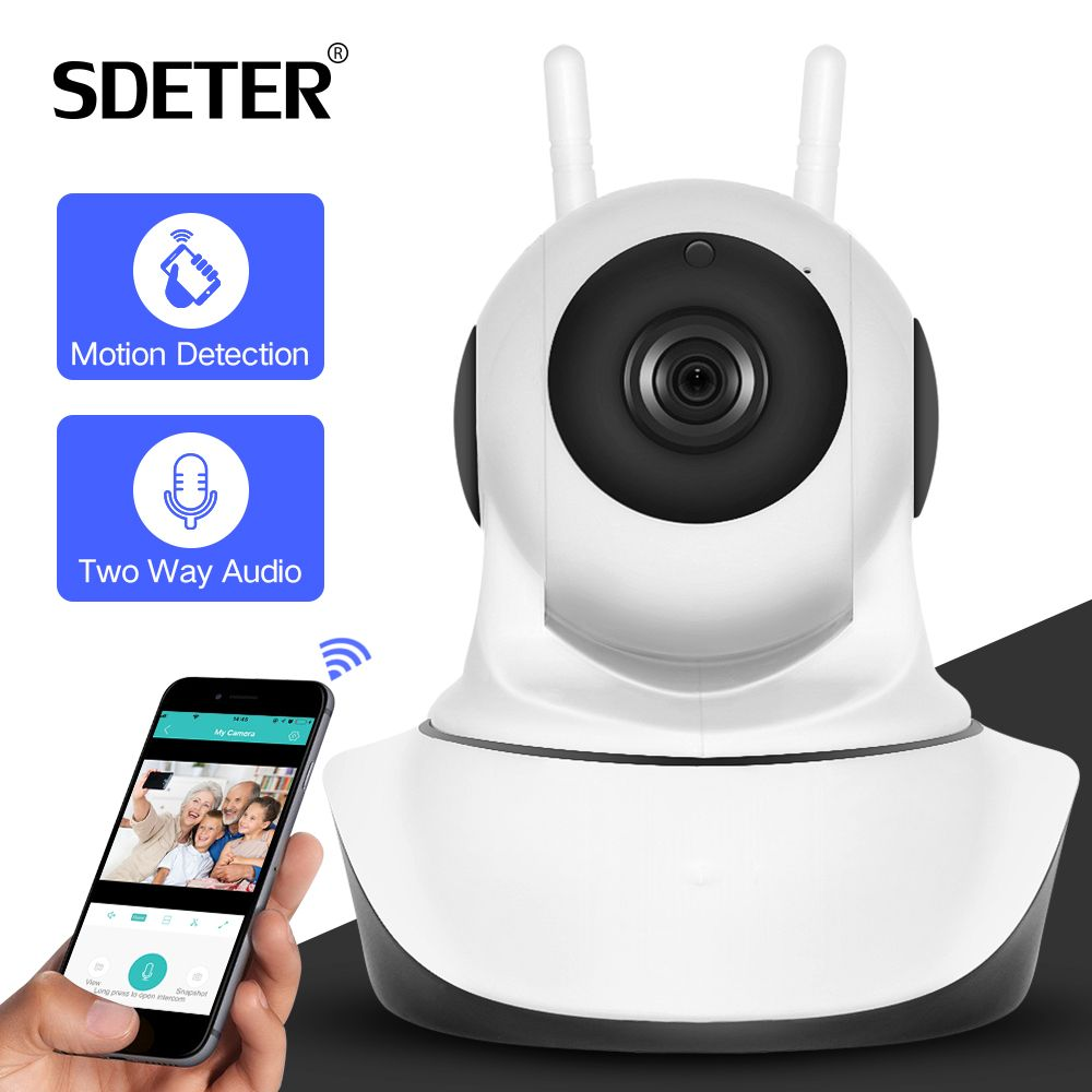SDETER 1080P 720P CCTV Camera HD IP Camera WI-FI Wireless Home Security Camera Plug And Play PTZ P2P Night Version Indoor Camera