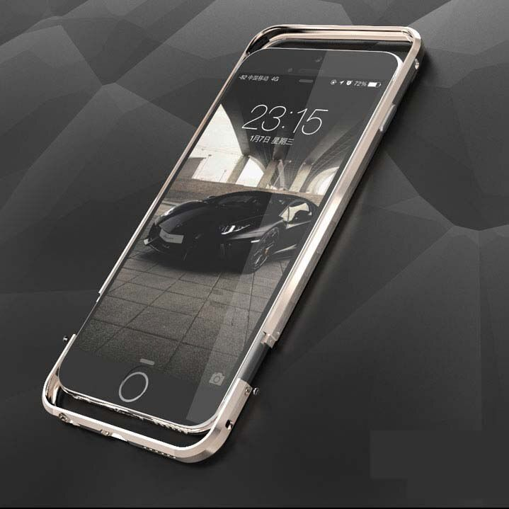ITEUU 6 6S Luxury Metal Bumper Case for Apple iPhone 6 6S Top Quality High-end Aluminum Alloy Frame for iPhone 6S