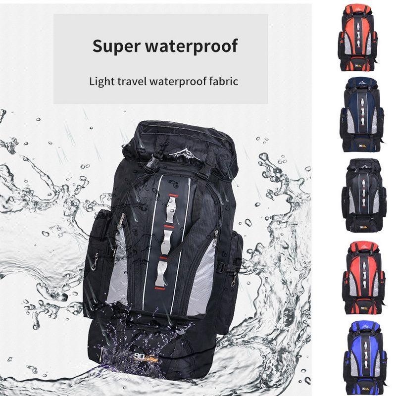 NIBESSER Waterproof Mountaineering Backpack 90L+10L Nylon Bagpack Unisex Travel Daypacks For Travelling Backpack 100L