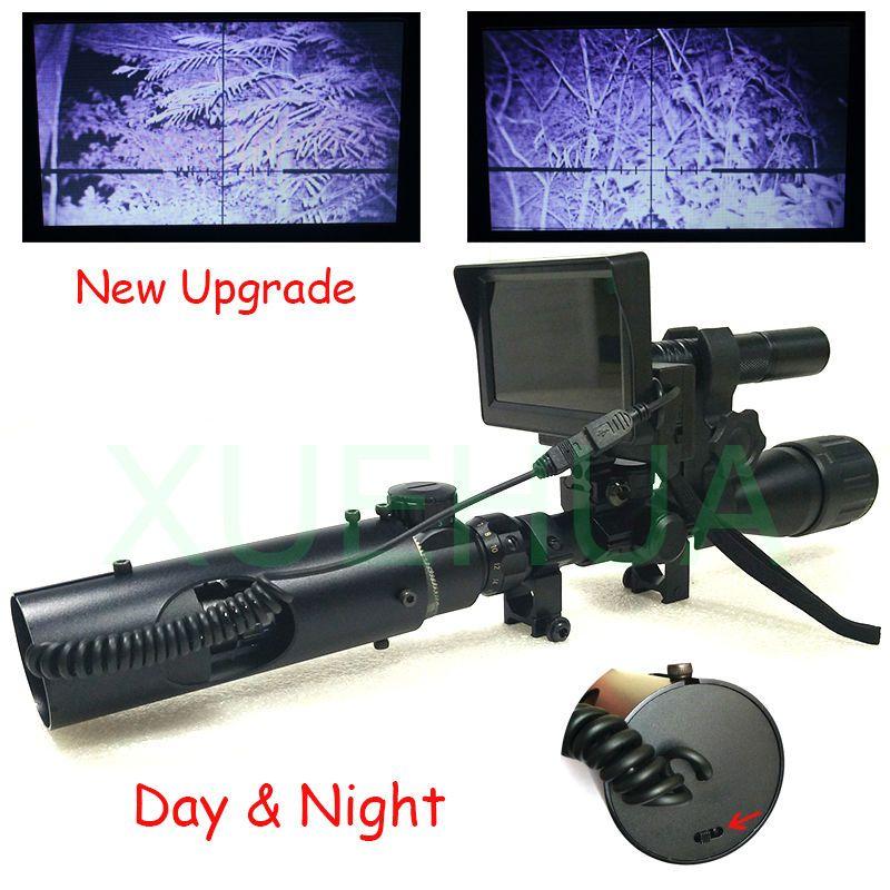 Nouvelle mise à niveau optique de chasse en plein air portée jumelles infrarouges numériques tactiques vision nocturne avec IR et LCD utilisation de jour et de nuit