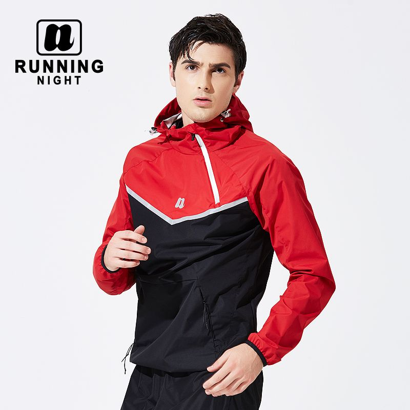 Men's 5 times Hot Sweat Set Sweaty Running Sportswear Body-building Slimming Suit Sweaty WHFH0012