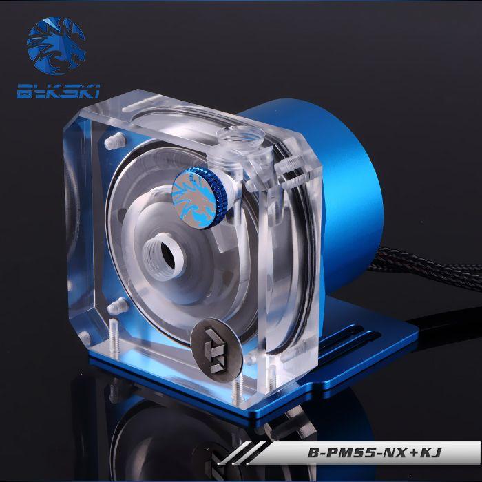 Bykski PWM Automatic Speed Control <font><b>Pump</b></font> Water Cooling System Maximum Flow 1100L/H Compatible D5 <font><b>Pump</b></font> 5 Colors Cover B-PMS5-NX