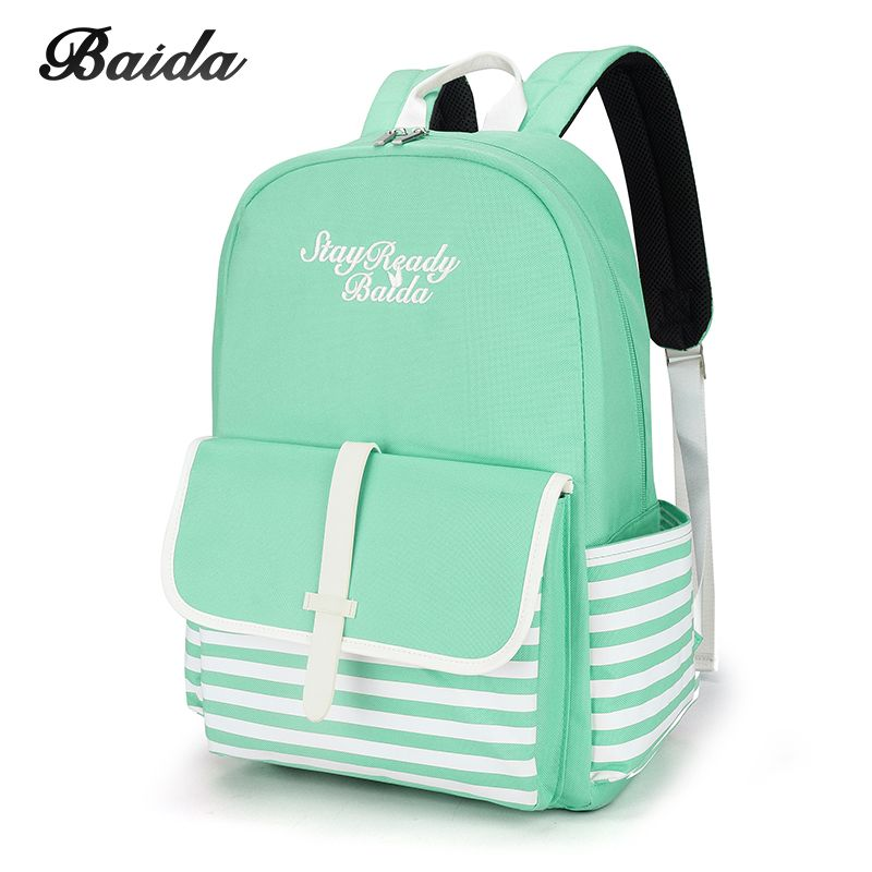 Fashion School Backpacks for Teenage <font><b>Girls</b></font> Canvas Women Laptop Back Pack Female Cute Japan and Korean Style Backpack Travel Bags