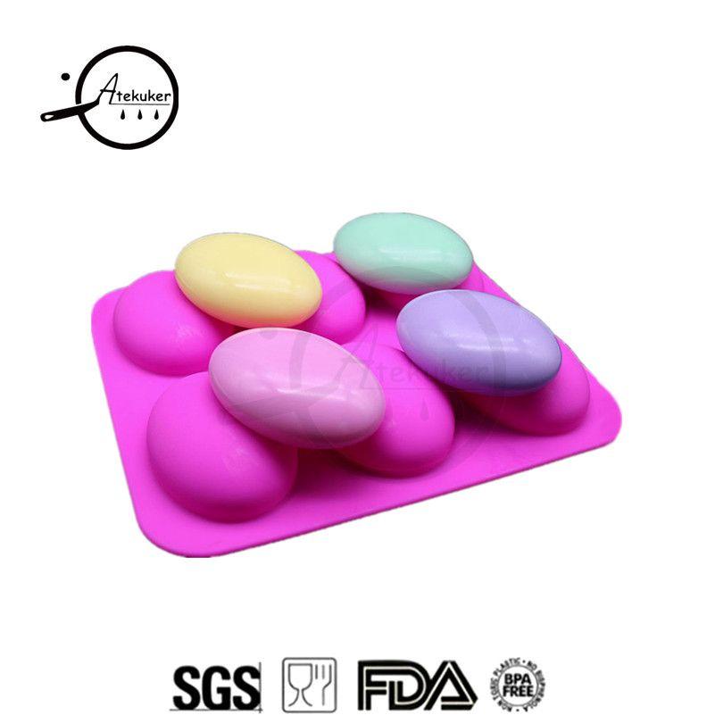 Moules en Silicone en forme d'ellipse Atekuker pour la fabrication de savon