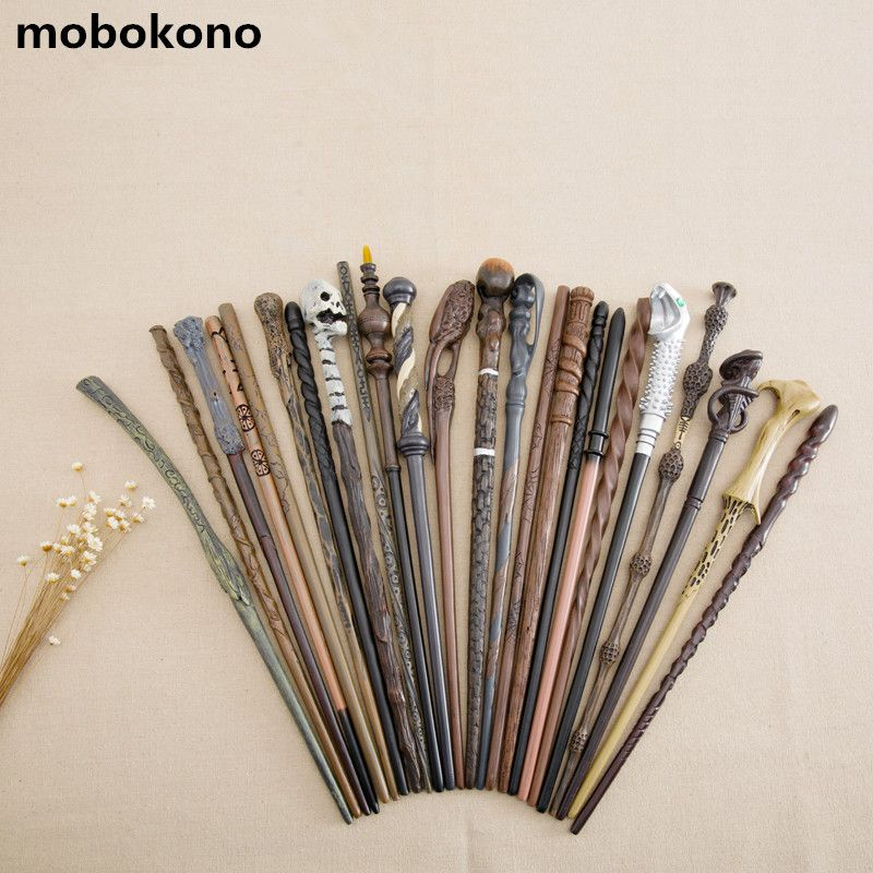 2017 New Arrive Metal Iron Core Cosplay Malfoy Dumbledore Hermione Voldemort Wand Harry Potter <font><b>Magic</b></font> Wand Gift Box Packing