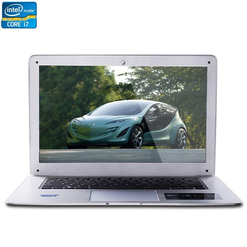 ZEUSLAP-A8 Plus Intel Core i7 CPU 14 pouces 8 GB + 120 GB + 1 TB Double Disques Windows 7/10 système 1920X1080 P FHD Ordinateur Portable Ordinateur portable