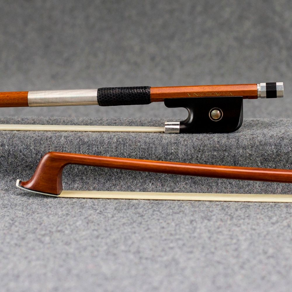 4/4 Size 870C Master Pernambuco CELLO BOW Pure Silver Mounted Ebony Frog and Screw Nice Hair Straight Strong Cello Accessories