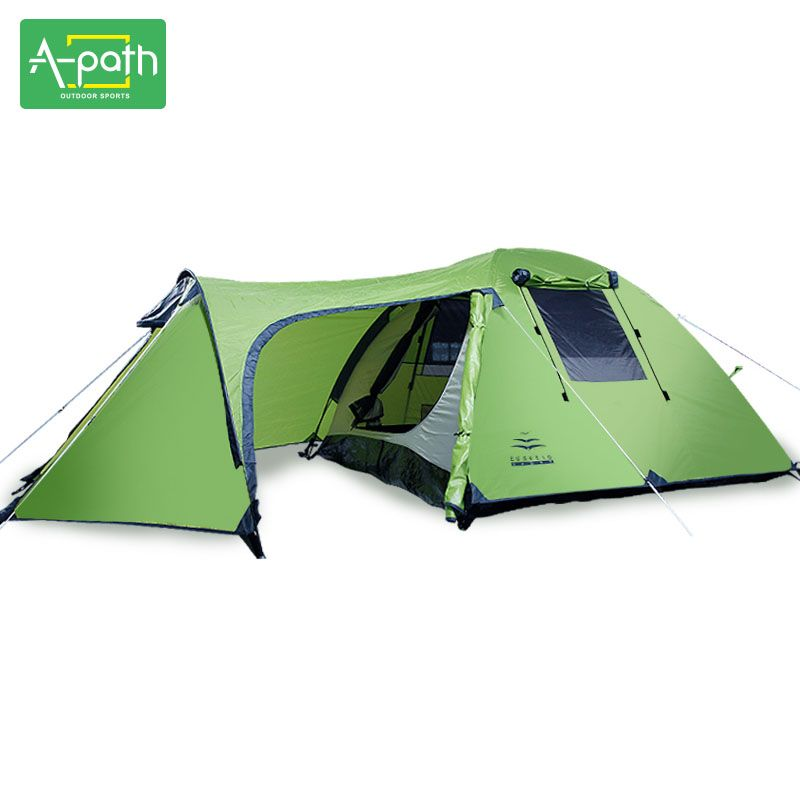Outdoors Camping 3-4 Person Waterproof Double Layer Winter Tents Durable Gear 1 Room 1 Hall Party Marquee Tent for Sale PU3000mm