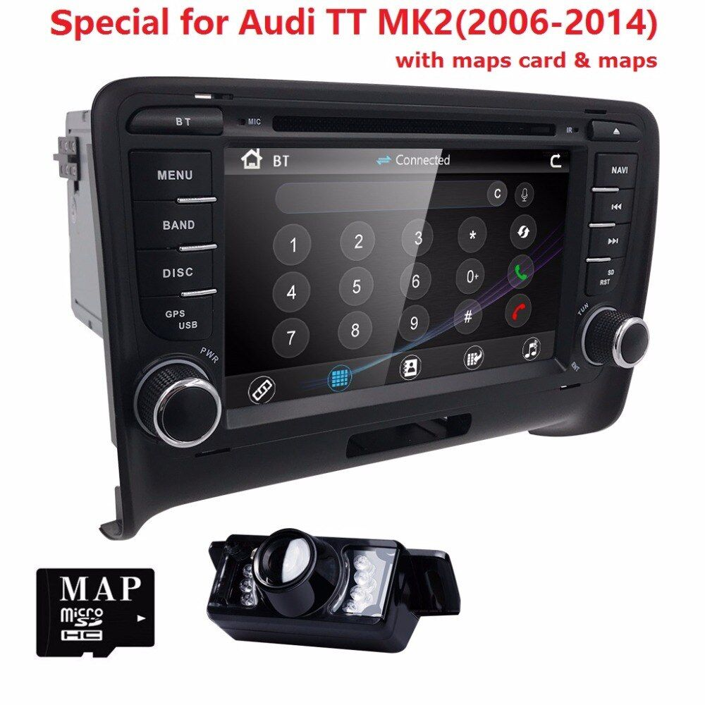 Touch screen 2 DIN Car DVD GPS Radio stereo For AUDI TT 2006-2014 3G GPS AUDIO dvd player Steering wheel TV-BOX RDS Bluetooth CD
