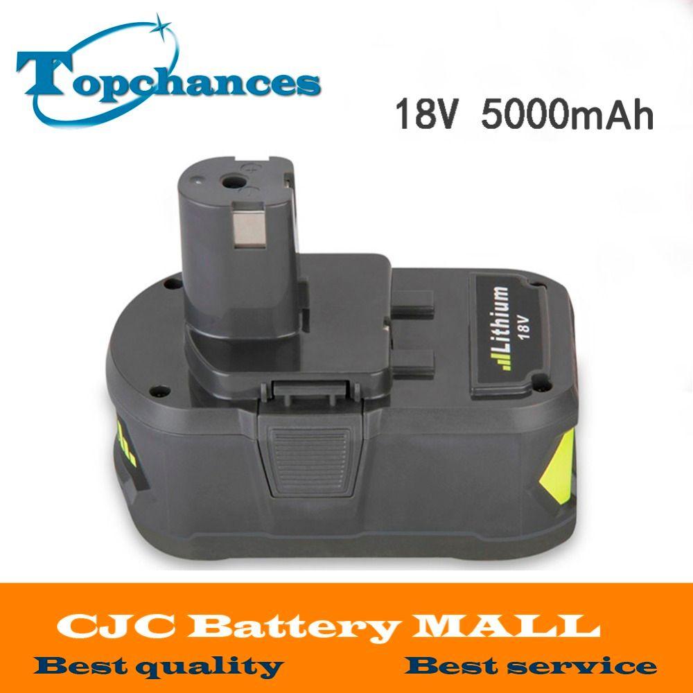 High Capacity New 18V 5000mAh Li-Ion For Ryobi Hot P108 RB18L40 Rechargeable Battery Pack Power Tool Battery Ryobi ONE+