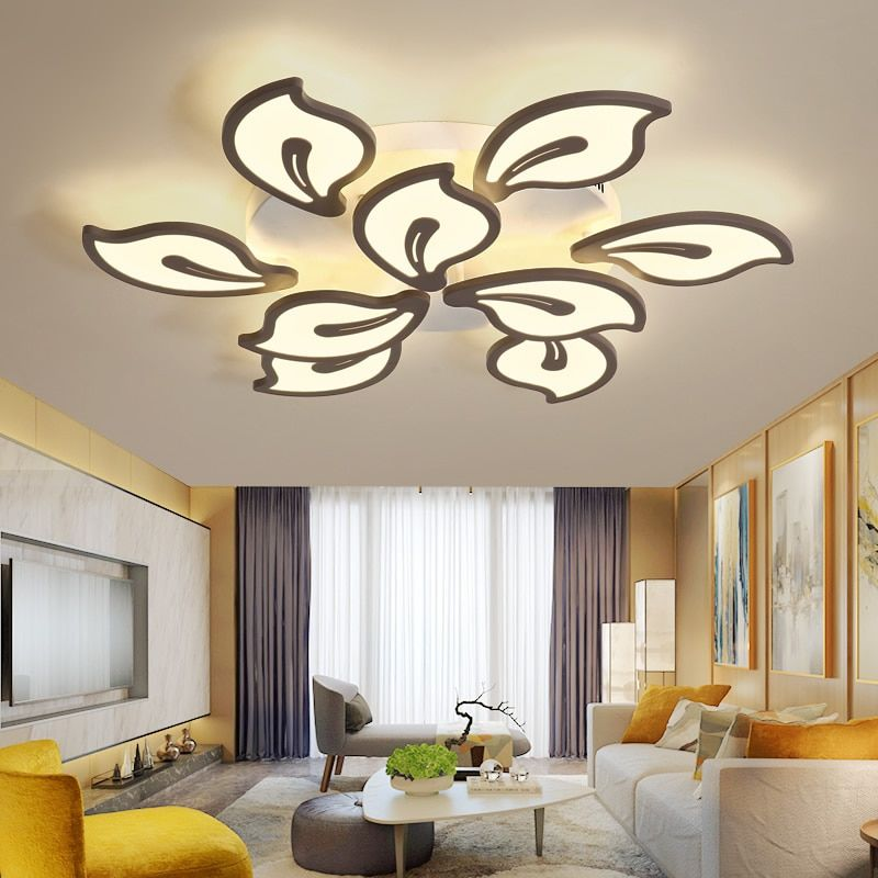 Bauhinia Chandelier Acrylic Modern Led Ceiling Chandelier Lighting Surface mounted lamparas de techo For Living Study Room Bedr