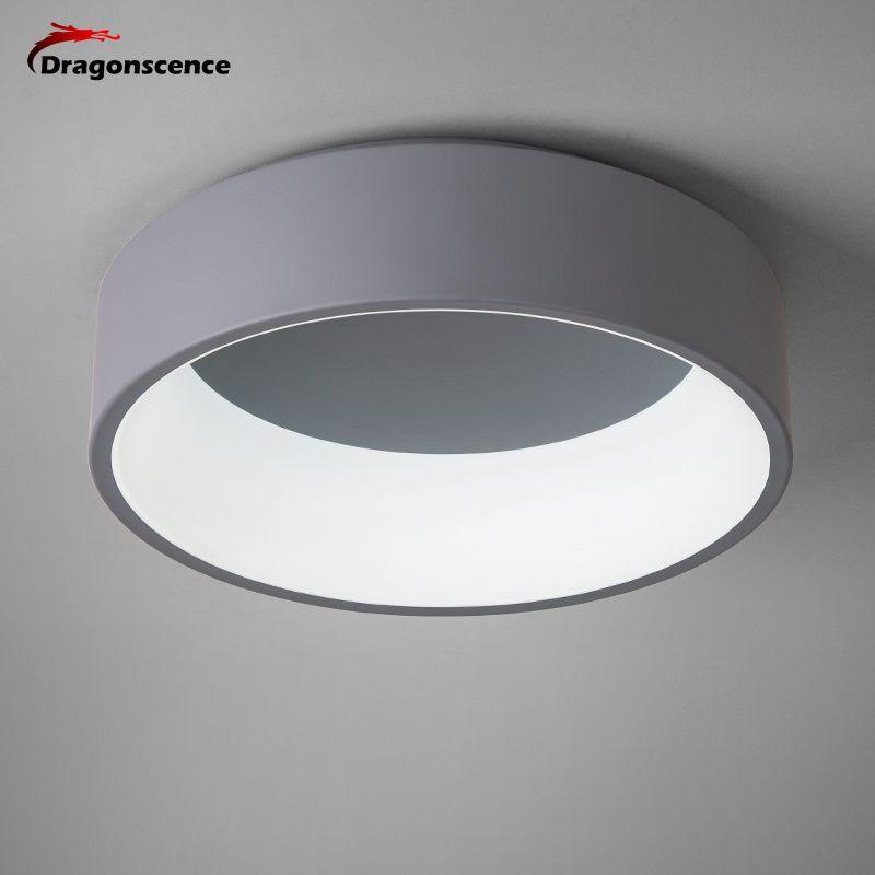 Dragonscence Runde kreis Aluminium Moderne led-deckenleuchte lampe für wohnzimmer schlafzimmer esstisch büro tagungsraum