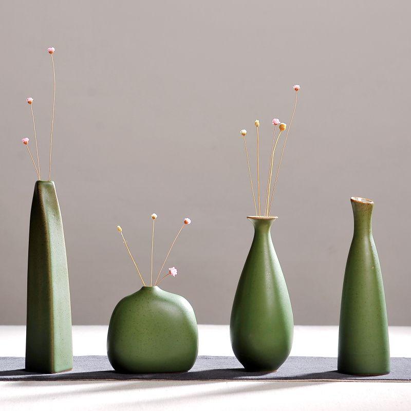 La mode moderne Ameublement, petite main chinois en céramique vases, fleur poterie vase, accessoires de bureau, artisanat