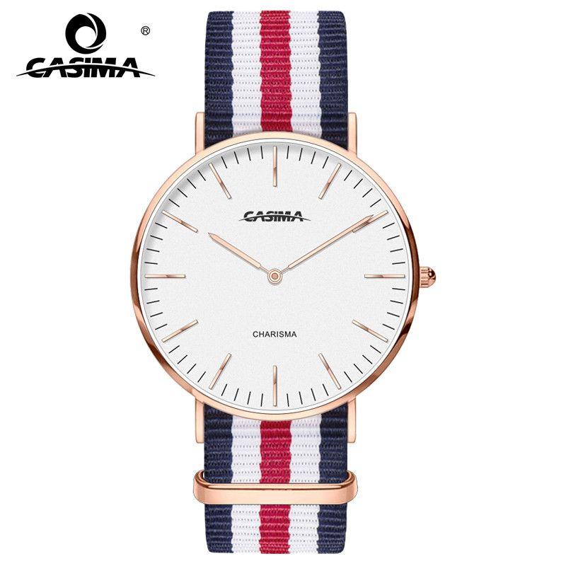 2017 lujo nuevo reloj impermeable Relojes de cuarzo para hombres y mujeres reloj Relogio elegante relojes casima 5134