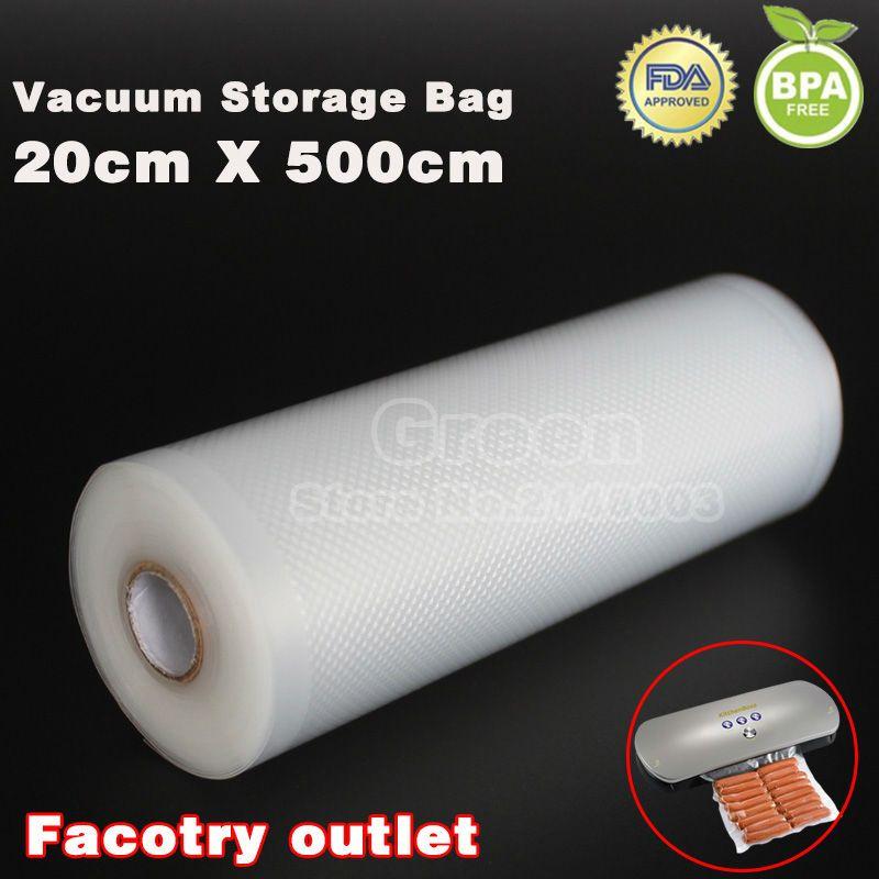 (3 Rouleaux/Lot) 20 cm x 500 cm Frais de maintien de sac de vide scellant alimentaire de stockage sacs emballage film garder frais up à 6x plus