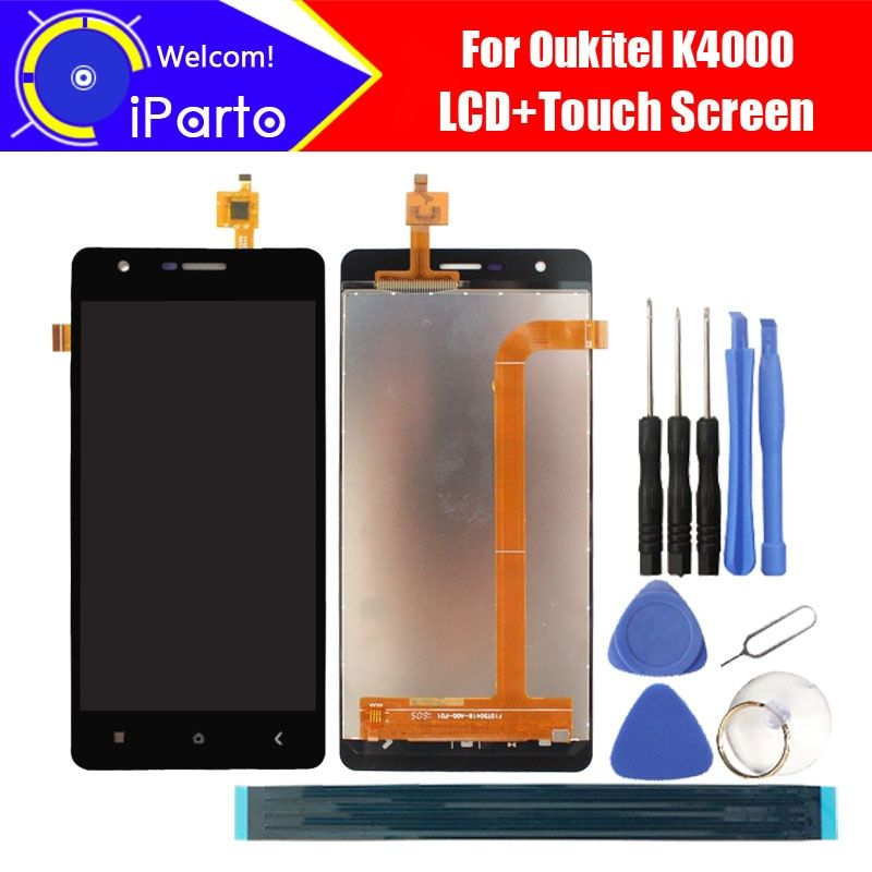 5.0 inch Oukitel K4000 LCD Display+Touch Screen Digitizer 100% Tested New LCD Screen Glass Panel Assembly For K4000 (2 touch)