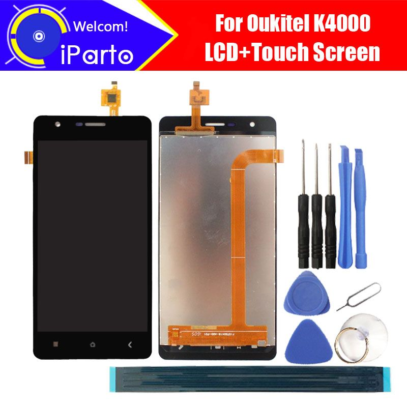 5.0 inch <font><b>Oukitel</b></font> K4000 LCD Display+Touch Screen Digitizer 100% Tested New LCD Screen Glass Panel Assembly For K4000 (2 touch)