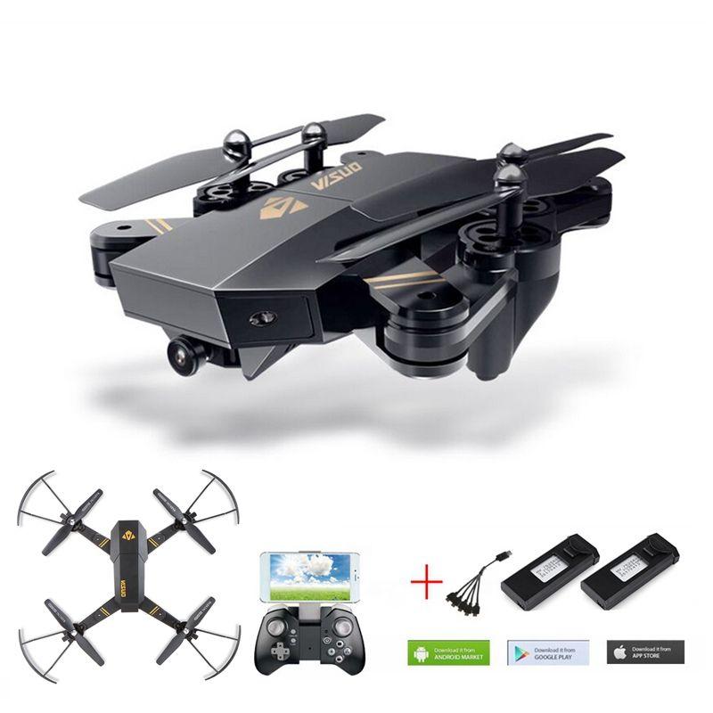 VISUO Xs809w Xs809hw Selfie Drone Avec Caméra Wifi Fpv Quadcopter Drones Rc Hélicoptère Rc Drone Télécommande Jouet Pour Enfants