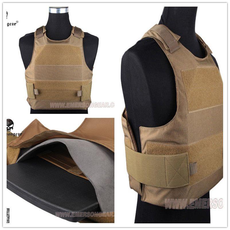 EMERSON Angriffs-platten-förder Tactical vest airsoft painball molle getriebe Coyote Brown