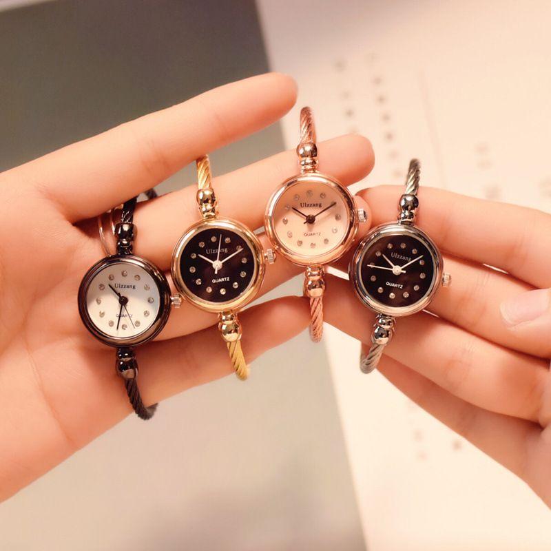 Luxus frauen mode diamant armband uhren stilvolle quarz kleid uhr frauen 2018 ulzzang marke gold silber frau uhr geschenk