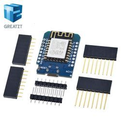 GREATZT ESP8266 ESP-12 ESP12 WeMos D1 Mini Module Wemos D1 Mini WiFi Development Board Micro USB 3.3V Based On ESP-8266EX 11 Dig