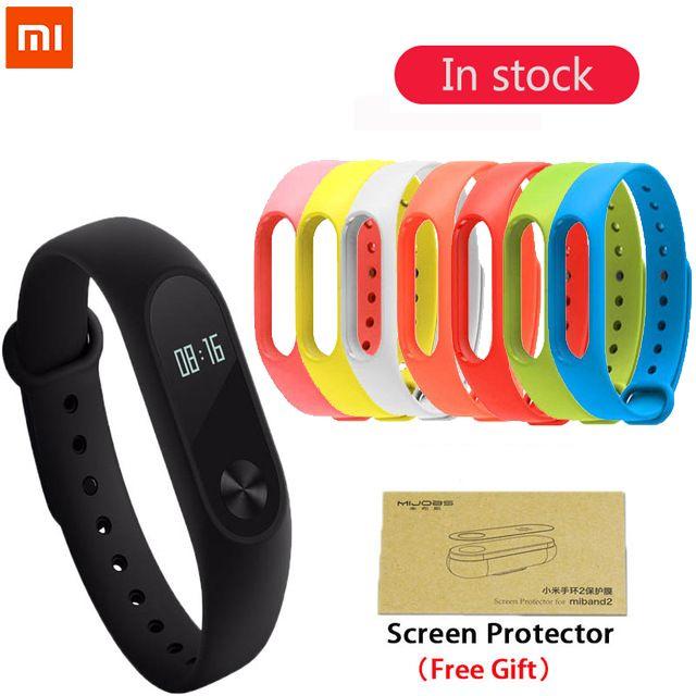 D'origine xiaomi mi bande 2 de Remise En Forme Intelligente Bracelet Montre Bracelet Miband OLED Touchpad Sommeil Moniteur de Fréquence Cardiaque Mi Band2