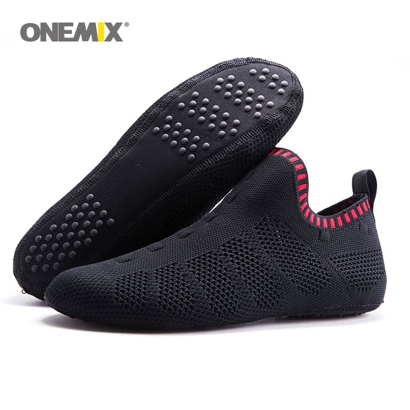 Onemix beach sandals slip-on slippers no glue environmentally friendly light cool breathable walking shoes slipper socks Indoor