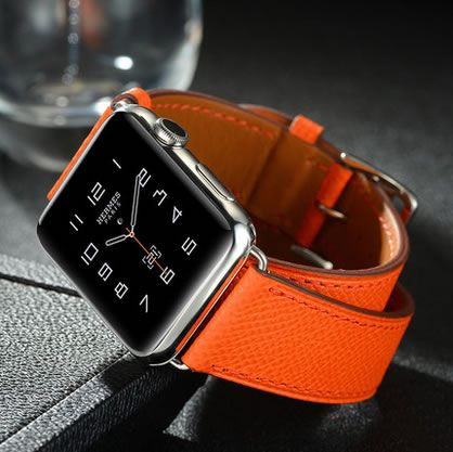 For Apple Watch Series 4 Genuine Leather Double Tour Watch Band Straps For Apple Watch Series 1 2 3 iWatch herme Watchbands