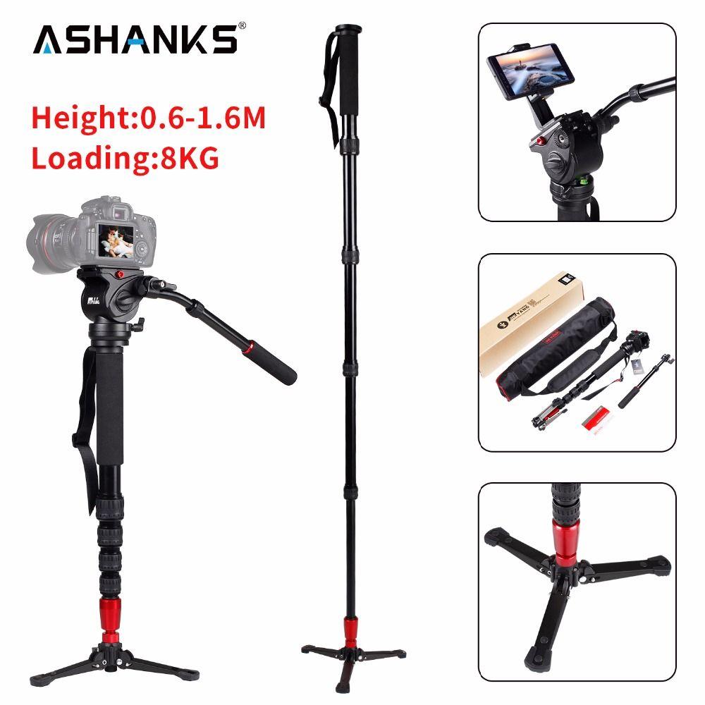 JIEYANG JY-0506 en aluminium professionnel monopode vidéo trépied pour caméra avec trépieds tête sac de transport livraison gratuite JY0506