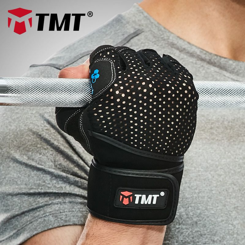 TMT crossfit Gym Gloves dumbbell Sports Fitness Weight Lifting Gloves Training Fitness bodybuilding Wrist Wrap Exercise Men Wom