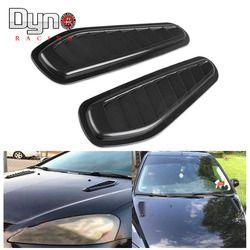 Auto Dekoratif Aliran Udara Masuk Sendok Turbo Bonnet Vent Cover Hood untuk Fender 1 Pair HS003