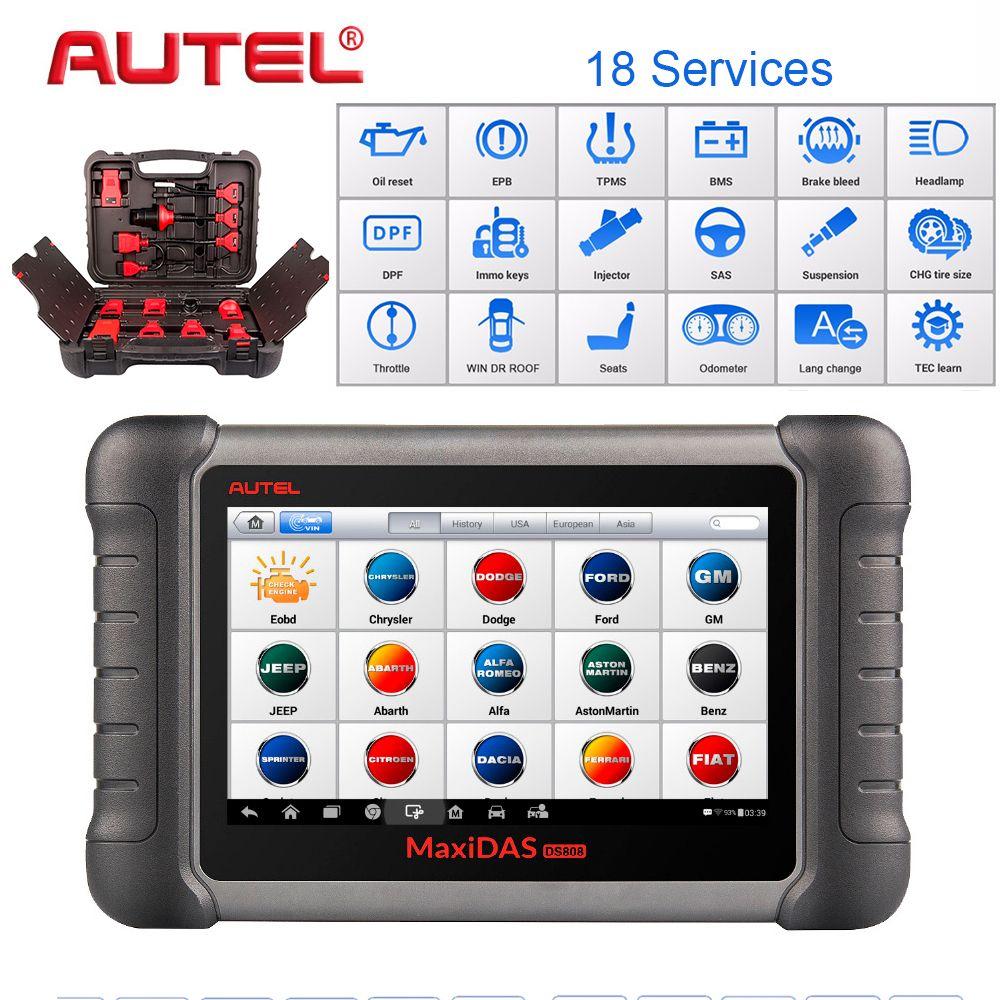 Autel PRO Car Diagnostic Tool Maxidas DS808K OBD Scanner Swift Diagnosis Functions of EPB//DPF/SAS/TMPS Same as MS906BT