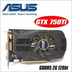 Asus GTX-750TI-OC-2GB GTX750TI GTX 750TI 2G D5 DDR5 128 бит настольных ПК Графика карты PCI Express 3,0 компьютеров GTX 750