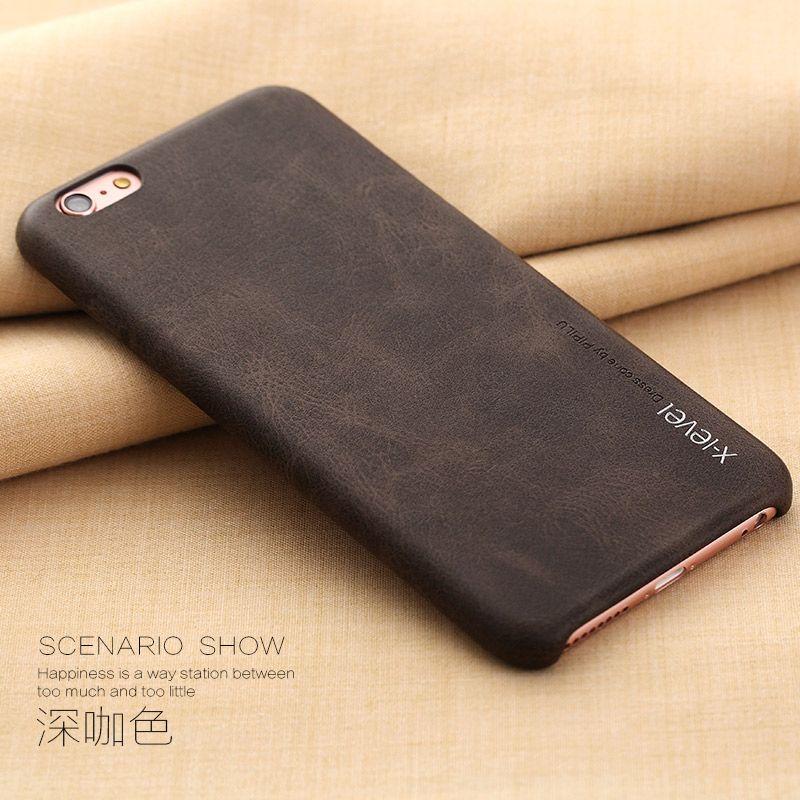 D'origine X-Niveau haute qualité vintage téléphone cas la sfor Funda apple iphone X 6 6 s 7 8 Plus couvercle du boîtier de luxe retour cas Coque Capa