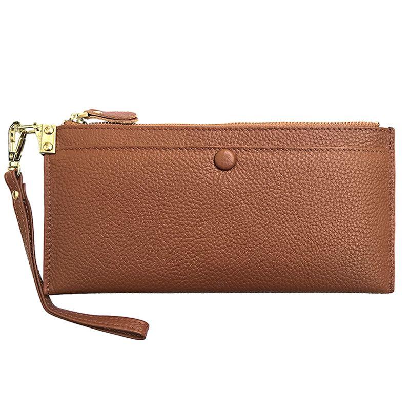 Unsere Realität 1 Lichee Wallet Vollrindleder Frauen Lange Brieftasche Standard Geldbörse Dame Party Handtasche Klein EGT0137