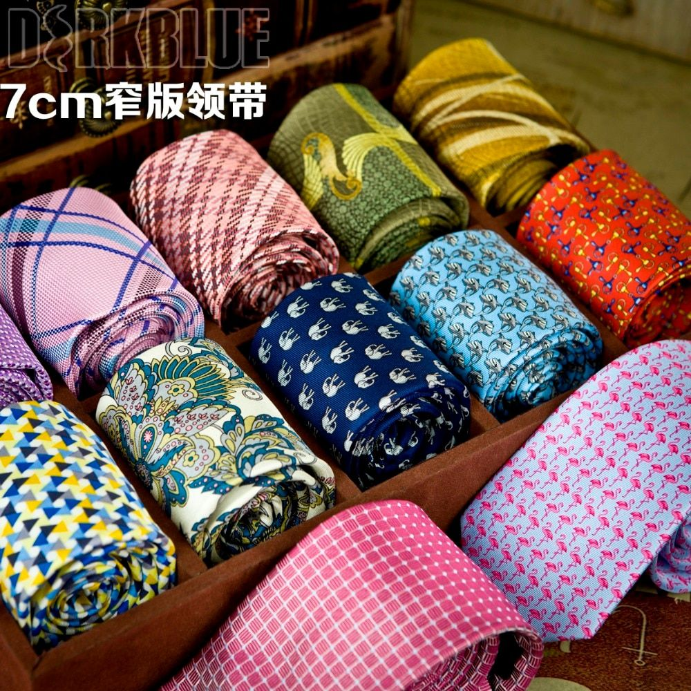 Modèle de cravate maigre imprimé vérifié multicolore hommes cravates cravates minces mode nouveauté costume cadeau pour les hommes livraison gratuite