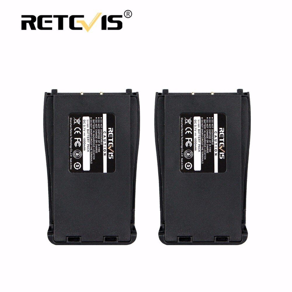 2pcs New Retevis 1000mAh Li-ion Battery DC 3.7V For Baofeng Bf-888S BF888S 888S Walkie Talkie Retevis H-777 H777 Accumulators