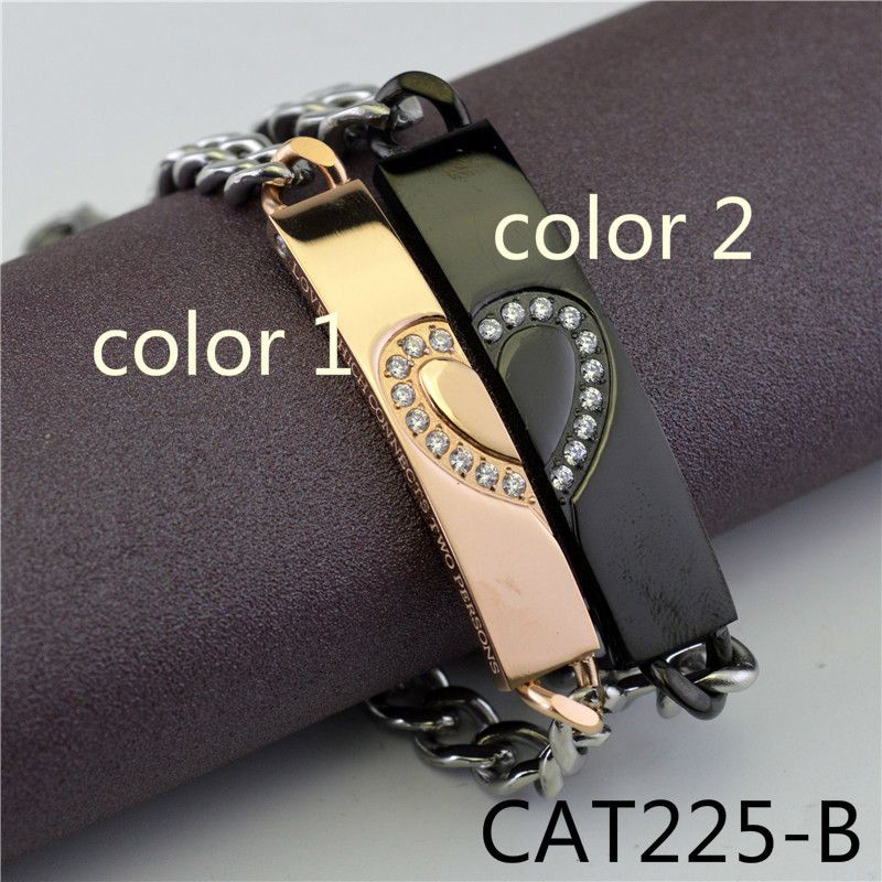 European Restore Ancient Ways Love Form Lovers Type Bracelet A Pair Titanium Accessories Product Foreign Trade stonery CAT225