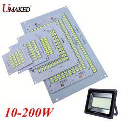 1 шт. 100% Полный Мощность светодио дный Floodling PCB 10W 20W 30W 50W 70 Вт 100 Вт 150 Вт 200 Вт SMD5730 светодио дный печатной платы, Алюминий пластина для светодио д...