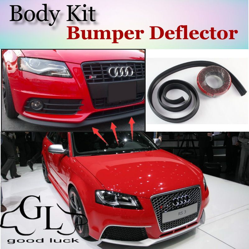 Bumper Lip Lips For Audi A3 S3 RS3 1996~2015 / Car Lip Shop Spoiler For Car Tuning / Scratch Proof Adhesive Body Kit + Strip