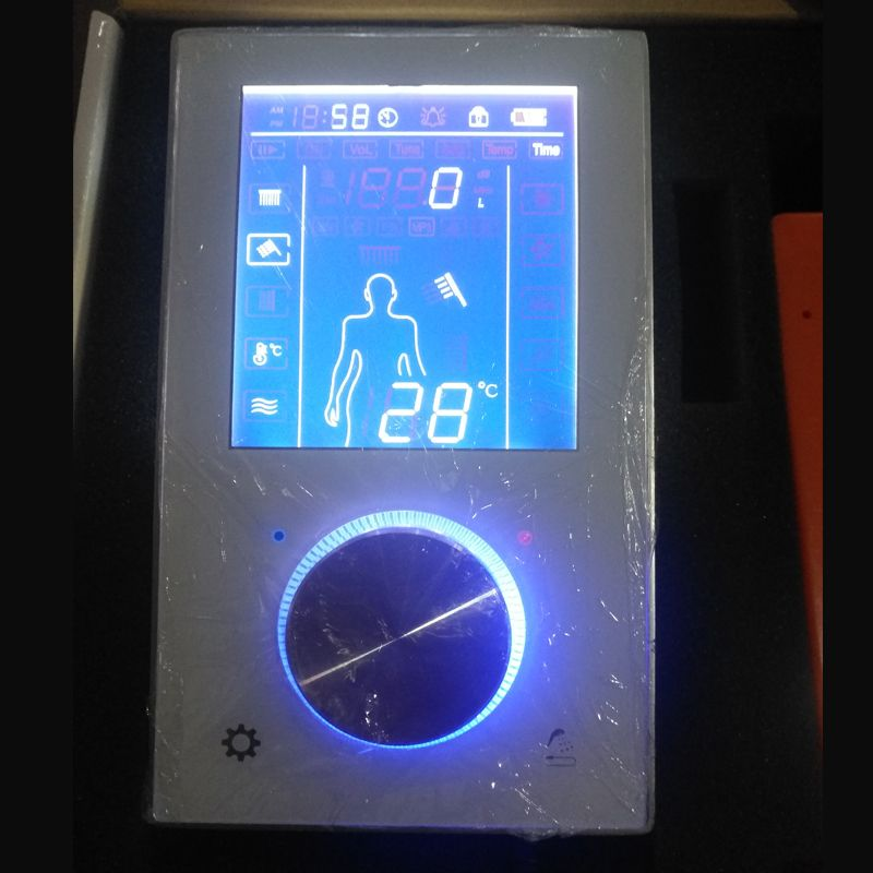 JMKWS Digitale Duscharmaturen Thermomischer LCD Dusche Panel Smart Switch Wasserhahn Bad Touchscreen Mixer