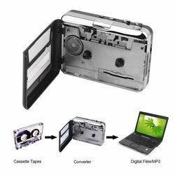 Tape to PC Super Cassette To MP3 Audio Music CD Digital Player Converter Capture Recorder +Headphone USB 2.0 Drop Shipping