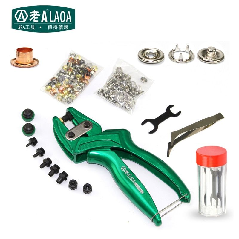 LAOA multi-fonction en cuir poinçon pinces en alliage d'aluminium oeillet perforateur ceinture poinçon bouton pince fabriqué à Taiwan