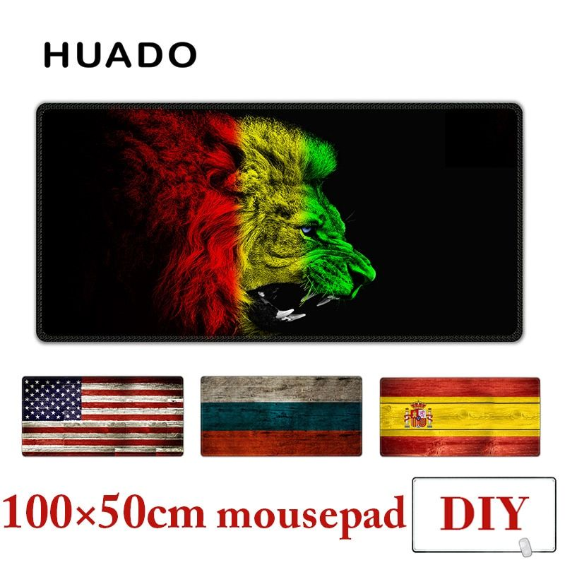 Rubber Mouse Pad XXL mousepad desk carpet 100X50cm large gamepad mats for csgo/world of warcraft/steelseries/starcraft/overwatch