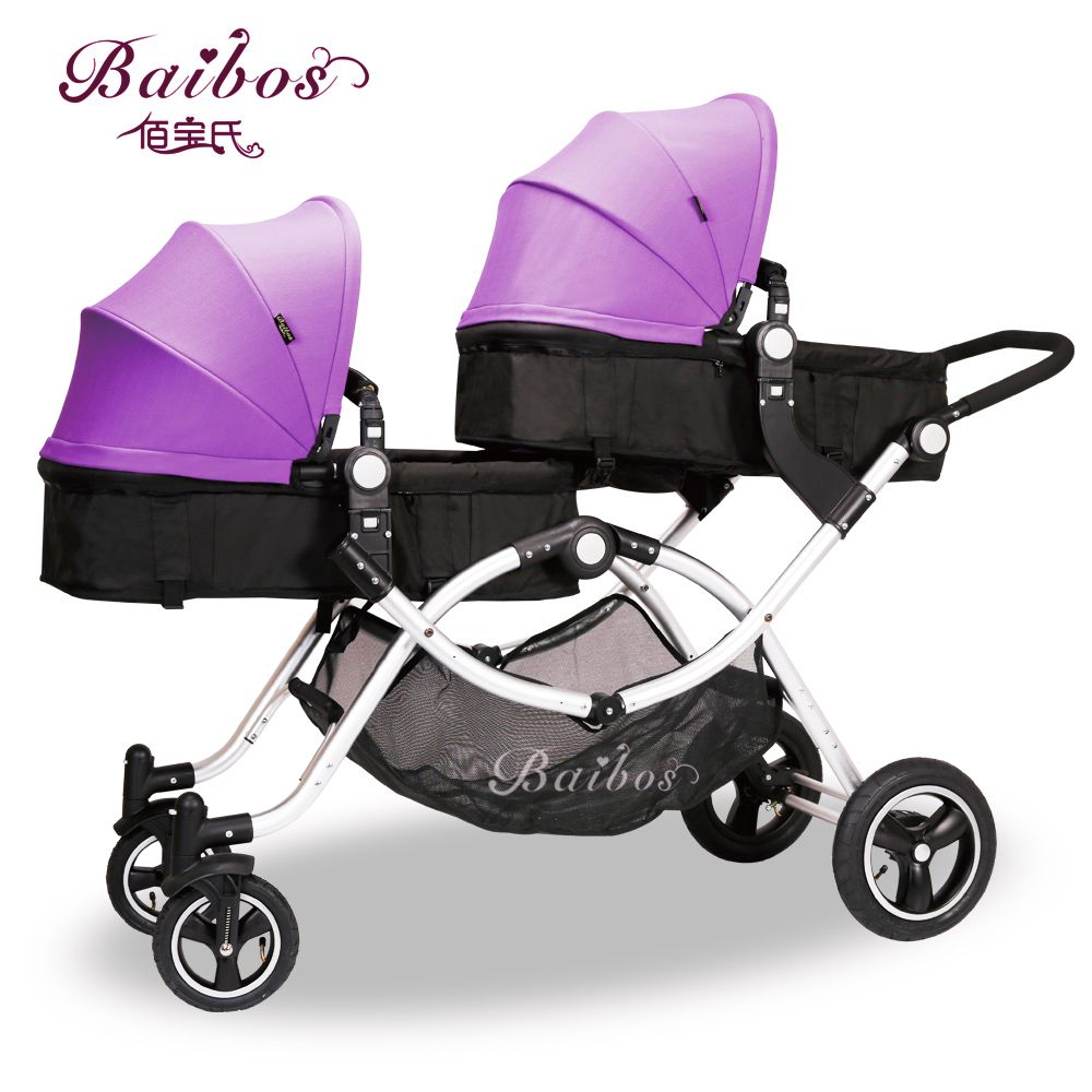 Baibos Bai Twin Landscape Baby Stroller, Double Front And Rear Can Lie Sit